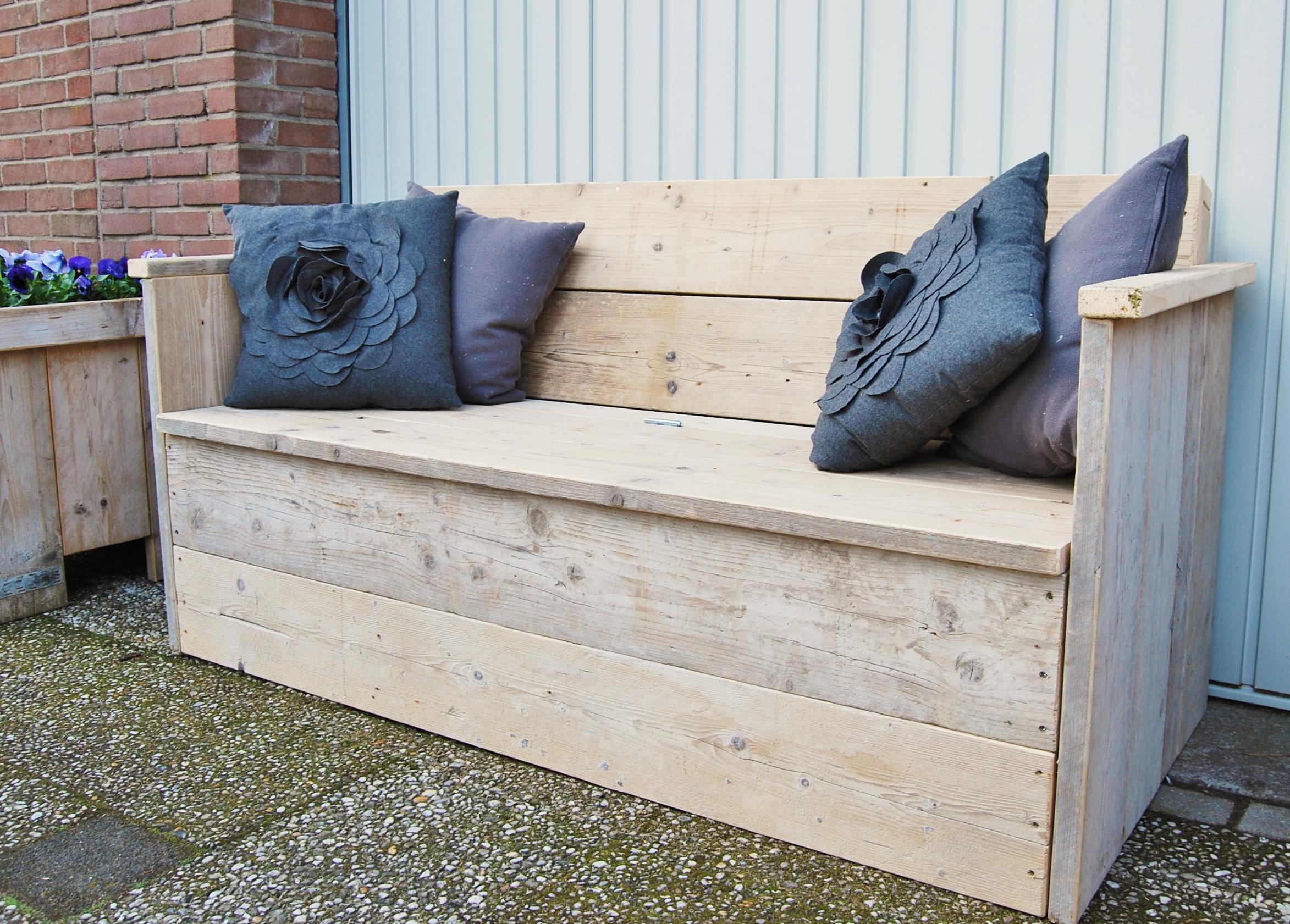 Tuin- en Loungebanken: Tuinbank XL gebruikt steigerhout klepbank