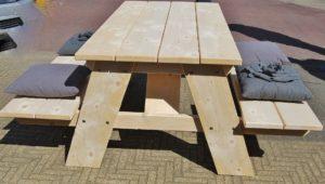 Tuinmeubels: Picknicktafels nieuw en gebruikt steigerhout