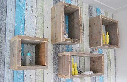 Wandkast steigerhout