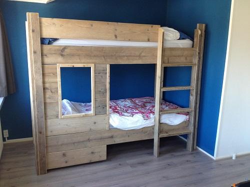Kinderbed - Stapelbed steigerhout