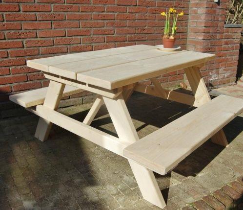 picknicktafel steigerhout - kinderen