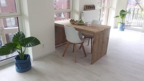 Eettafel - uvorm steigerhout
