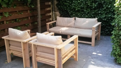 Tuinset steigerhout - palletlook